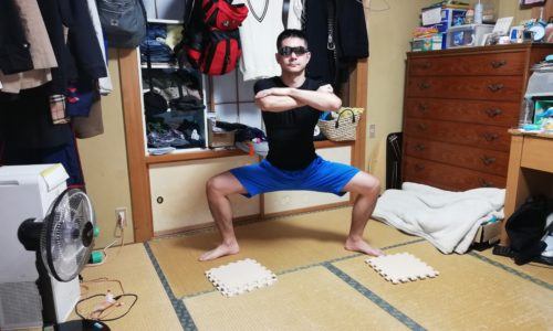 相撲スクワット(四股スクワット)のやり方