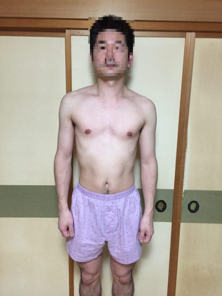 筋トレ初めて3週間の身体