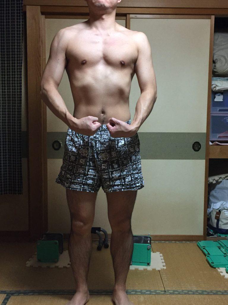ダンベルフライで1年半の身体