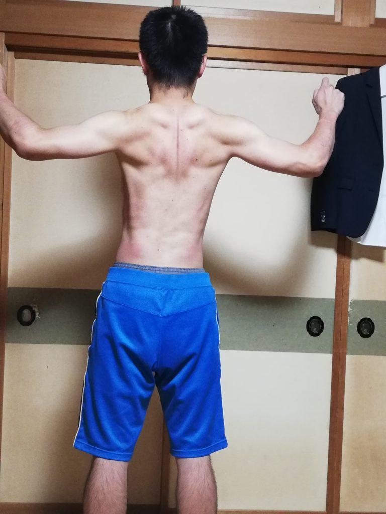 懸垂で作った筋肉