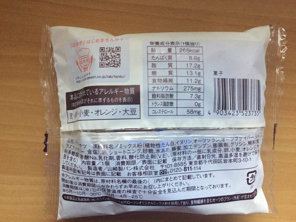 ブランのドーナツの栄養情報